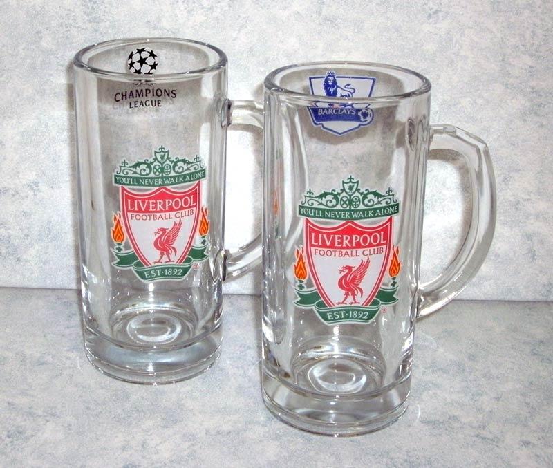 """Кружки стеклянные с логотипом футбольного клуба \""""Ливерпуль\"""""""