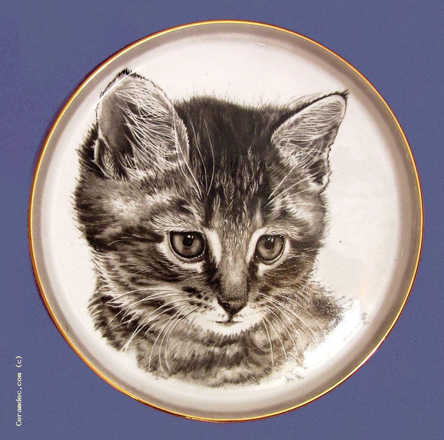 """Тарелка сувенирная \""""Котёнок\"""""""