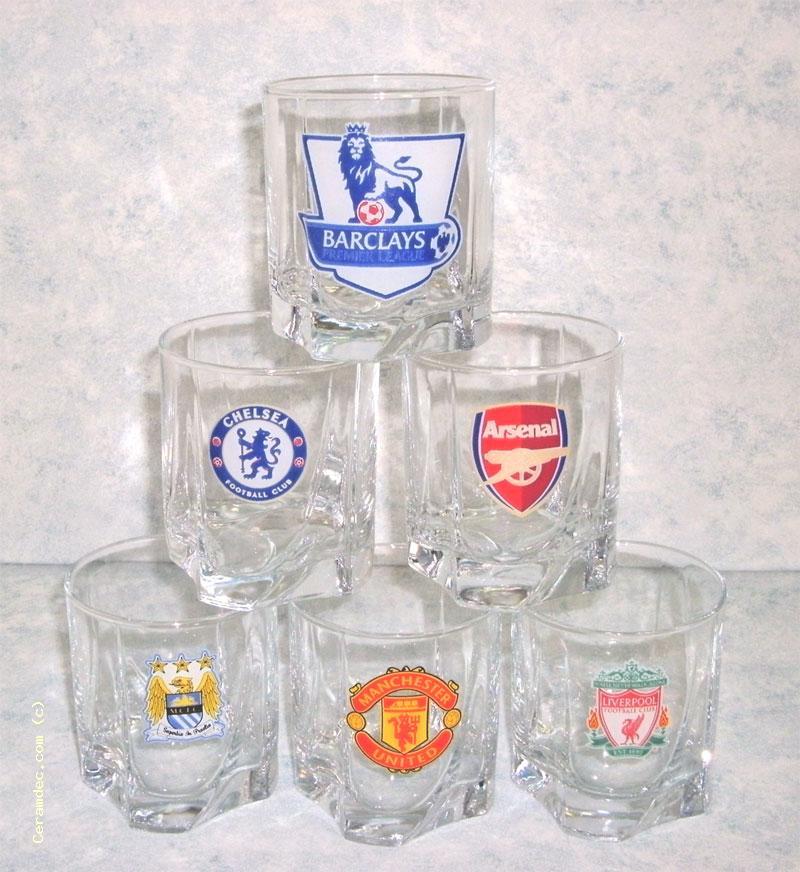 Наборы бокалов для виски с логотипами европейский футбольных клубов.